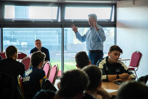 UCFB students studying at Manchester Sports Village (Belle Vue)