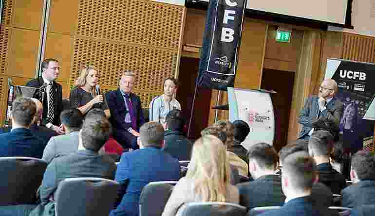 Future Leaders In Sport Conference St Georges Park Speakers Panel LQ AT9I1612 25Apr18