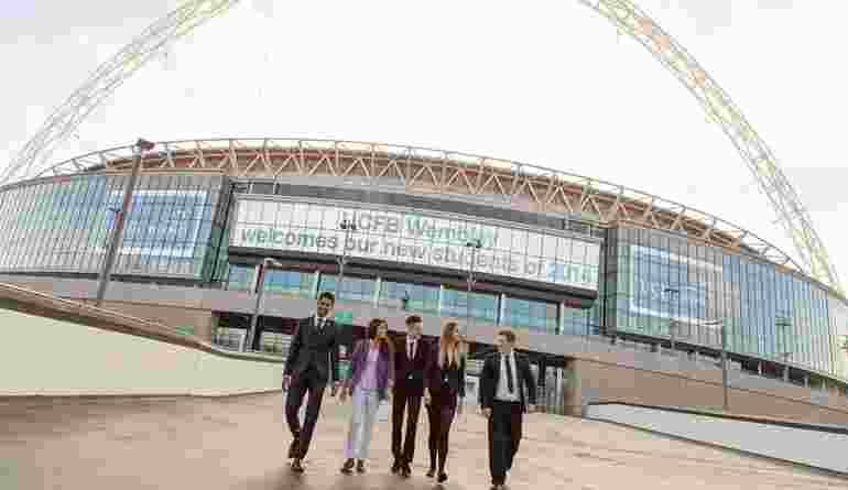 UCFB Students Walking Down The Famous Wembley Way (1)