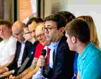 UCFB student Alex talks mental health with Greater Manchester Mayor Andy Burnham on #ATimeForAnswers panel